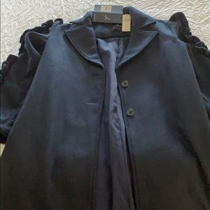 Beautiful Anthropologie navy wool coat with tags